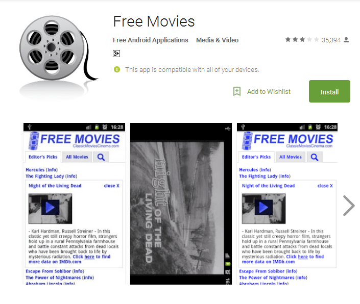 Free Movies Android Apps