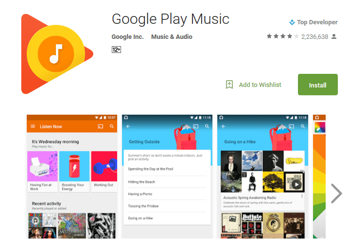 Google Play Music Streaming Apps For Android