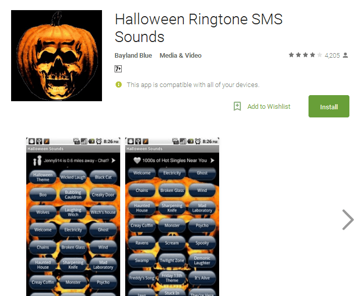 Halloween Ringtone SMS Sounds Android Apps