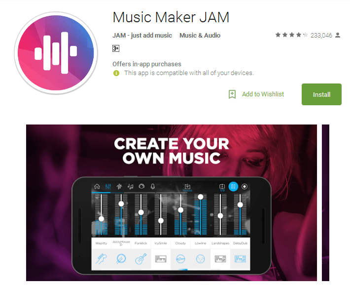 Music Maker JAM music making app
