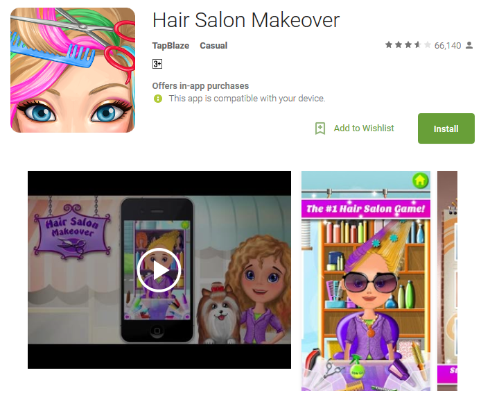 Hair Salon Makeover Android Apps