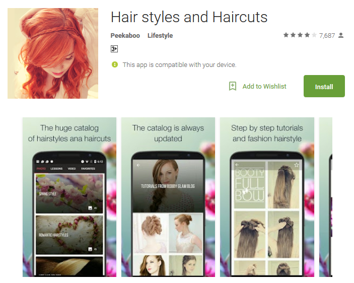 Hair styles and Haircuts Android App