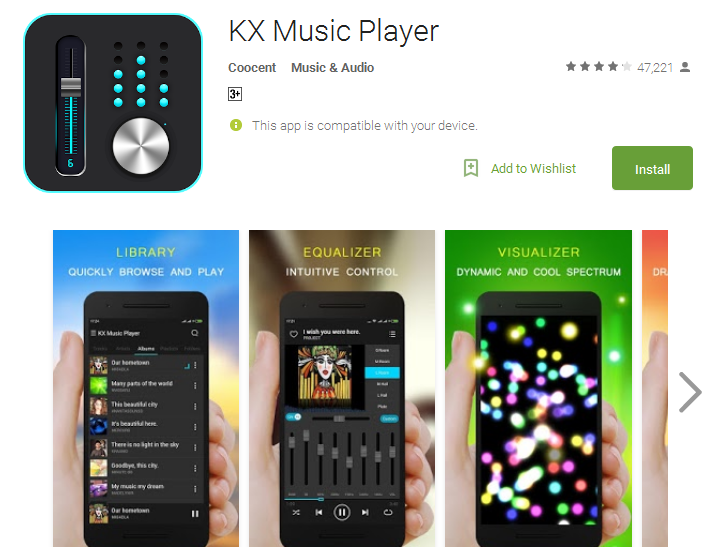 KX Music Player Android Apps