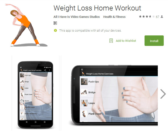Weight Loss Home Workout Android Apps