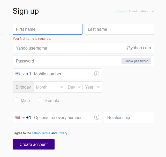 2016 new yahoomail registration yahoomail sign up yahoomail sign