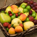 Luscious fruitbowl of summer colors for home decorating
