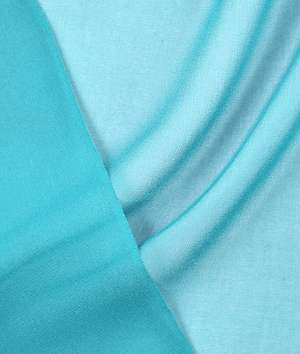 Light fabrics such as this turquoise chiffon do well with self-facing.