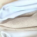 Sheeting fabric can be embellished by machine embroidery.