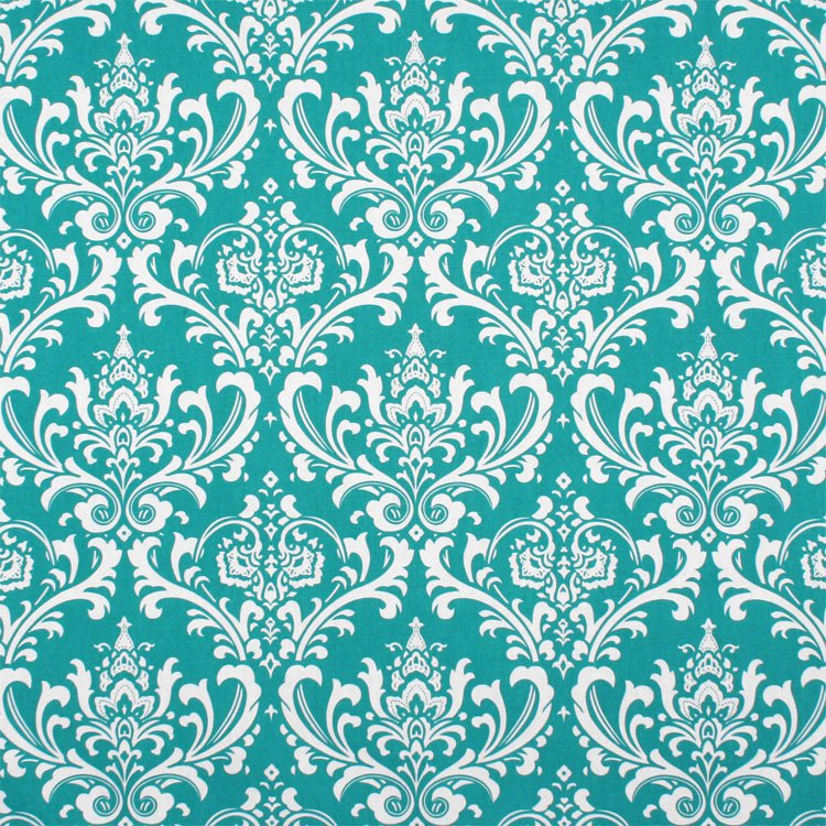 Premier Prints Ozbourne True Turquoise Fabric