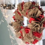 How to Make a Burlap Holiday Wreath