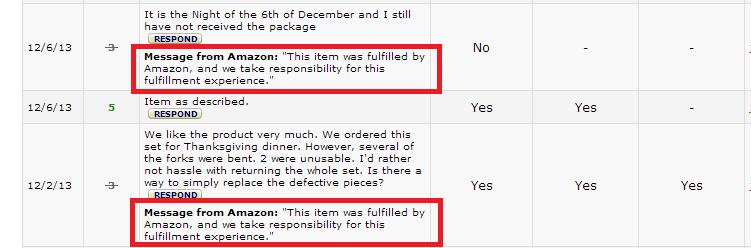 Fulfillment by amazon feedback removal