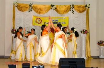 Onam Festival Cambridge 2016 - Singing and dancing displays.