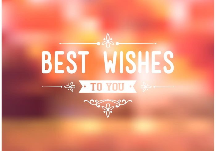 free-best-wishes-typography-background-vector