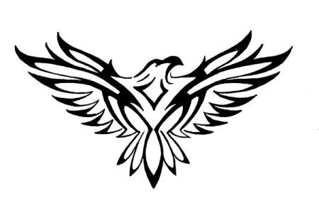 tribal hawk tattoo designs