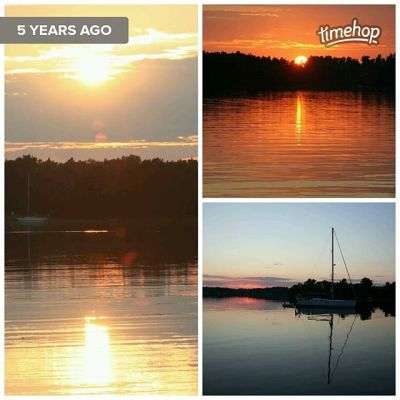 Every time I see these photos I smile at the memory of a great sunset. Top right is a canvas in our lounge