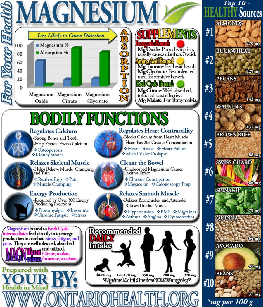 Magnesium Infographic - Optimum Integrative