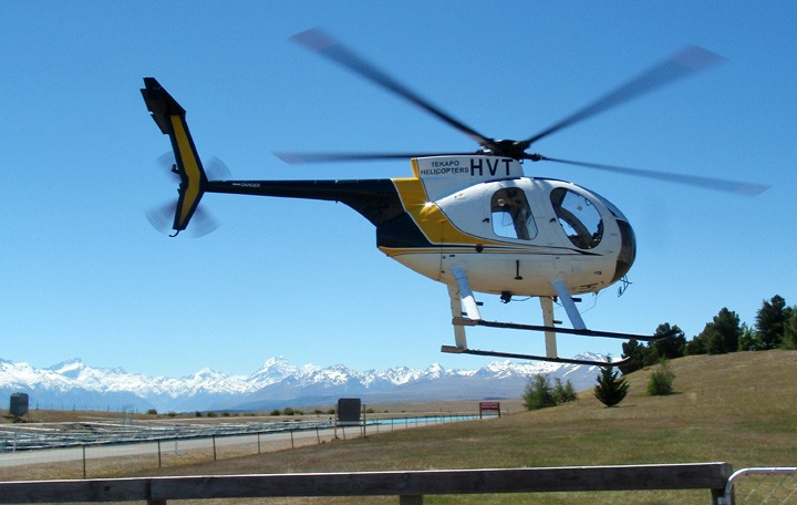 Helicopter to Mount Cook