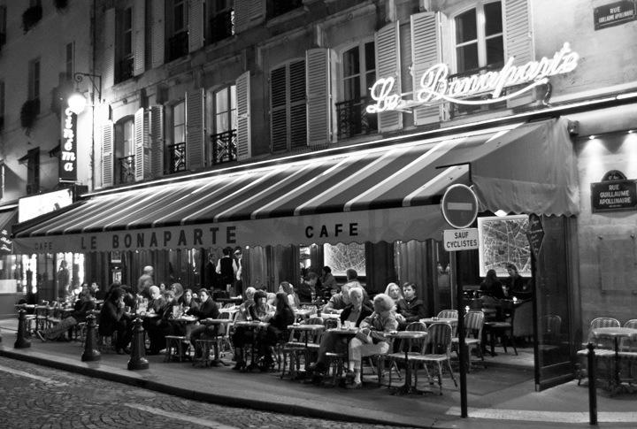 Bonaparte cafe in Paris St Germain