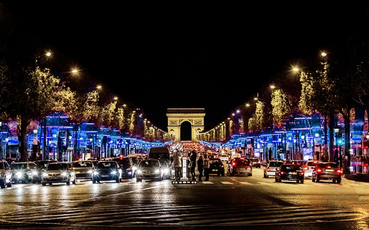 Paris at Christmas time