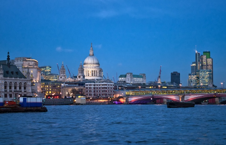 St Paul's, London's South Bank at dusk