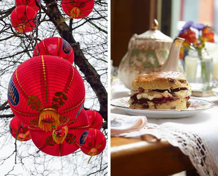 Chinese lanterns and afternoon tea in Manchester