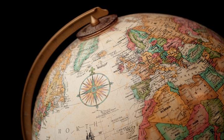 Globe and world map