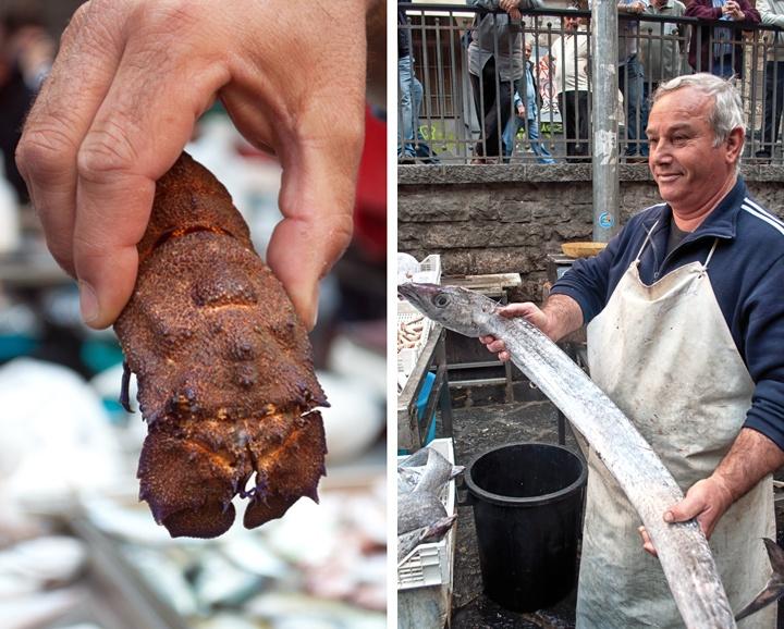 Catania fish market, Sicily, Italy