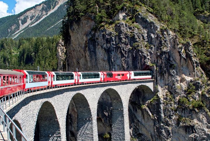 The Landwasser Viaduct, Switzerland