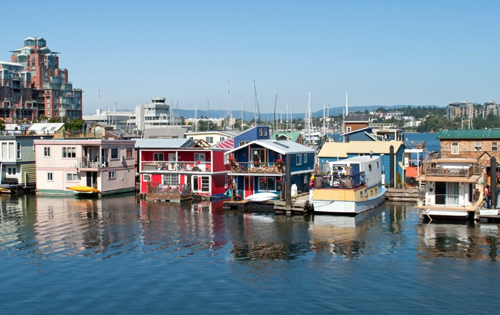 Fisherman's Wharf in Victoria, British Columbia