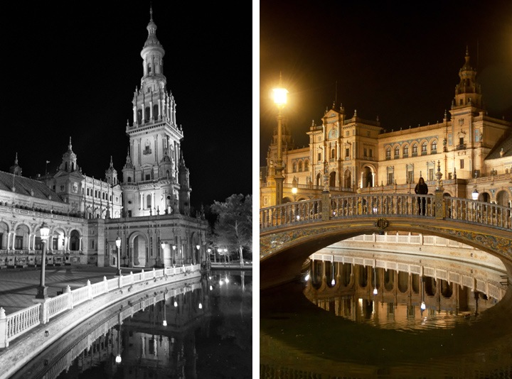 Night time in Seville