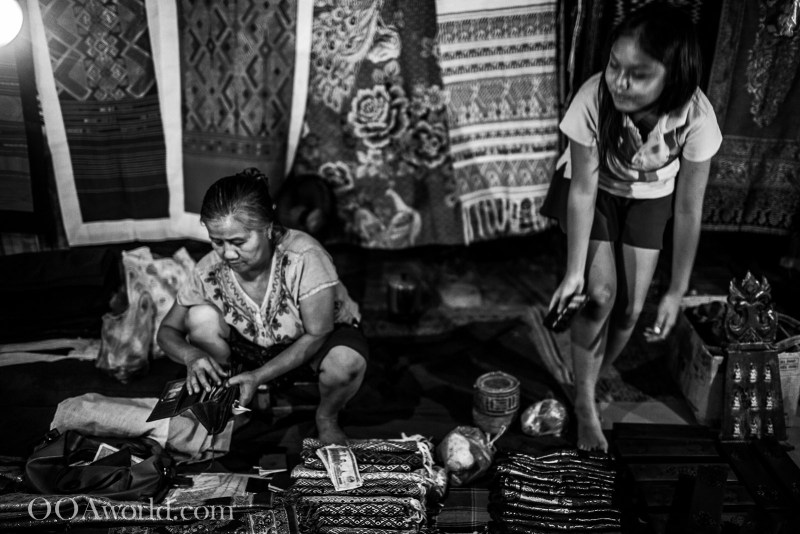 Mother and Daughter Luang Prabang Market Laos Photo Ooaworld
