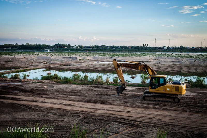 Mekong River Dry Construction Photo Ooaworld