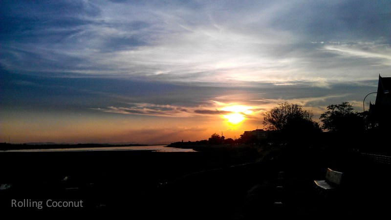 Mekong River Sunset Sky Vientiane Laos Rolling Coconut Ooaworld Photo Ooaworld