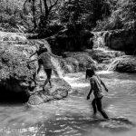 Kuang Si Falls Girls Photo Ooaworld