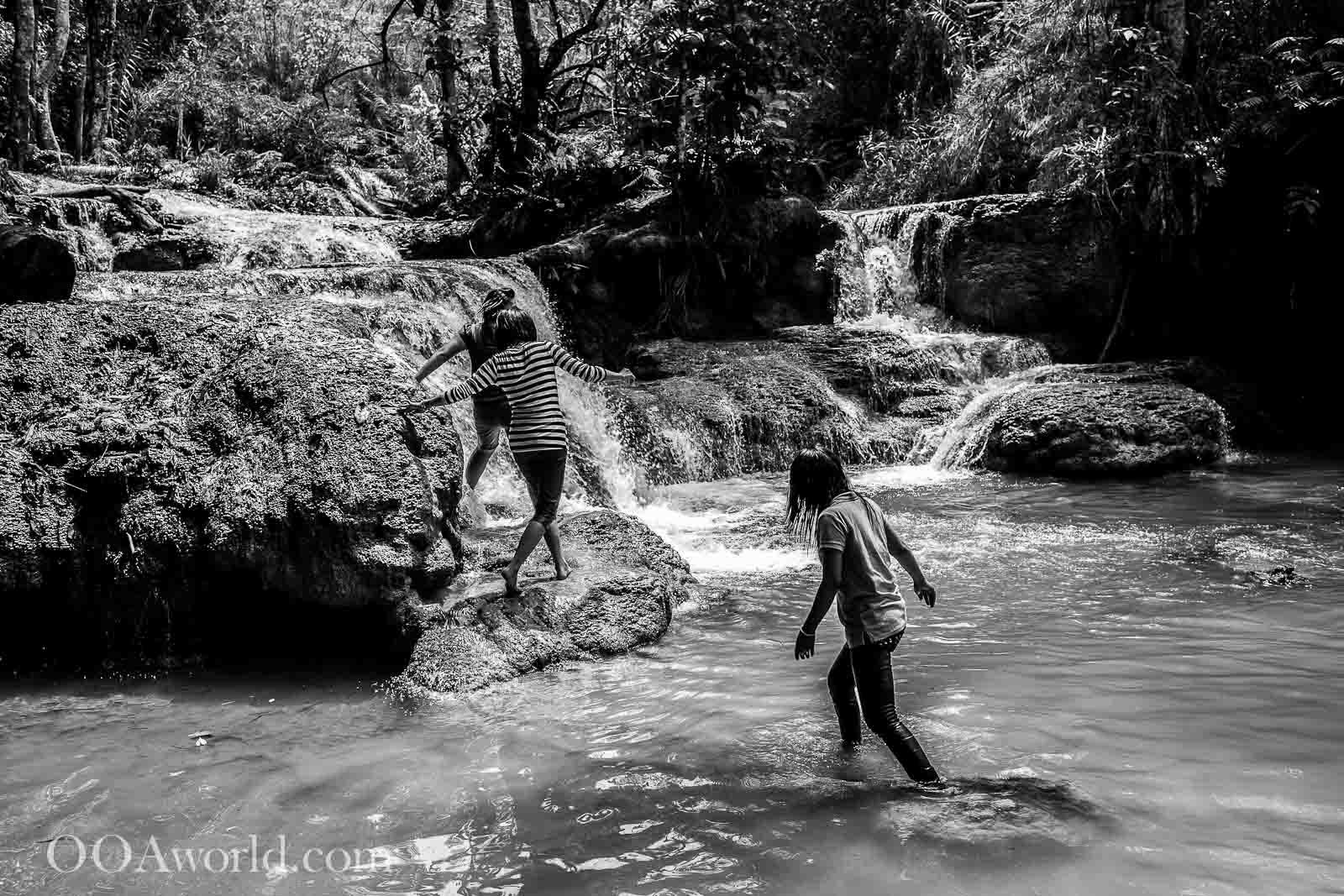 Luang Prabang Waterfall Kuang Si Falls Photos Girls Ooaworld