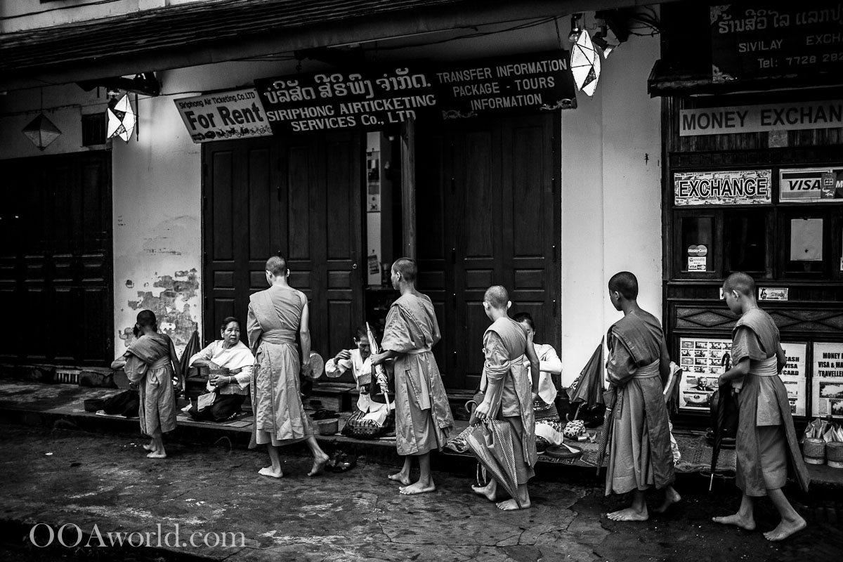 Luang Prabang Alms Giving Ceremony Photo Ooaworld