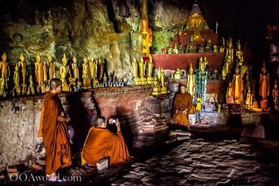 Luang Prabang Videos Monks Photo Pak Ou Cave Laos Photo Ooaworld