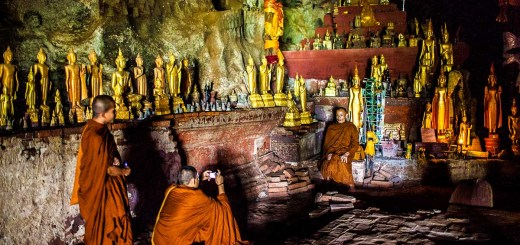Luang Prabang Videos Monks Photo Pak Ou Cave Laos Photo Ooaworld