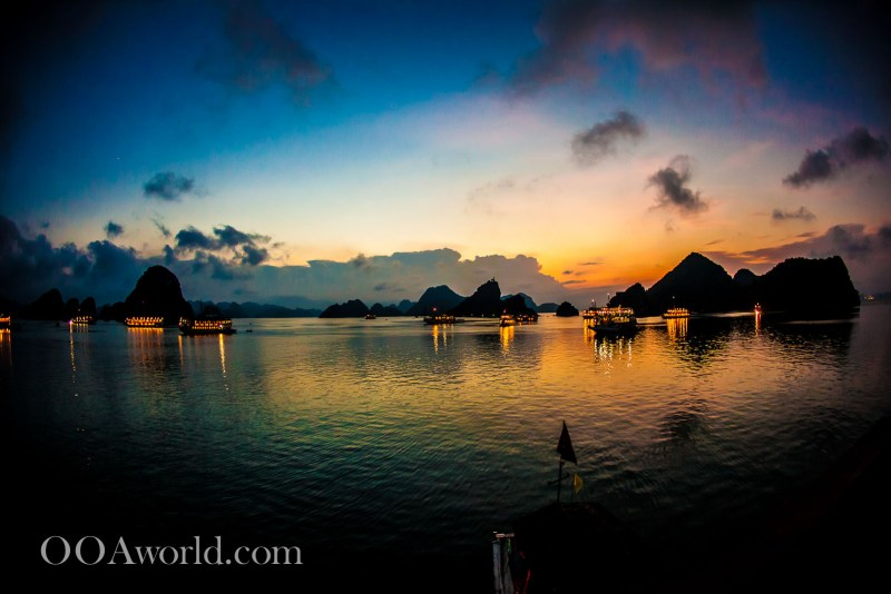 Halong Bay Vietnam Photos Sunset Ooaworld