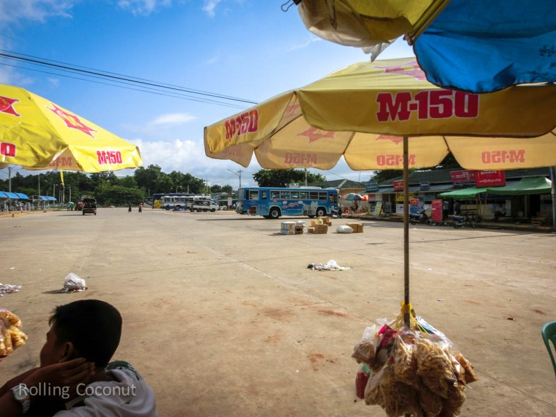 Bus Station Naypyidaw Myanmar ooaworld Rolling Coconut Photo Ooaworld