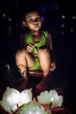 Hoi an Lantern Festival Portrait Green Girl Photo Ooaworld