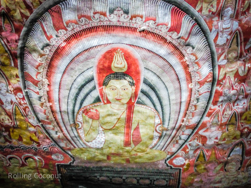 Painting Cave Golden Temple Dambulla Sri Lanka ooaworld Rolling Coconut Photo Ooaworld