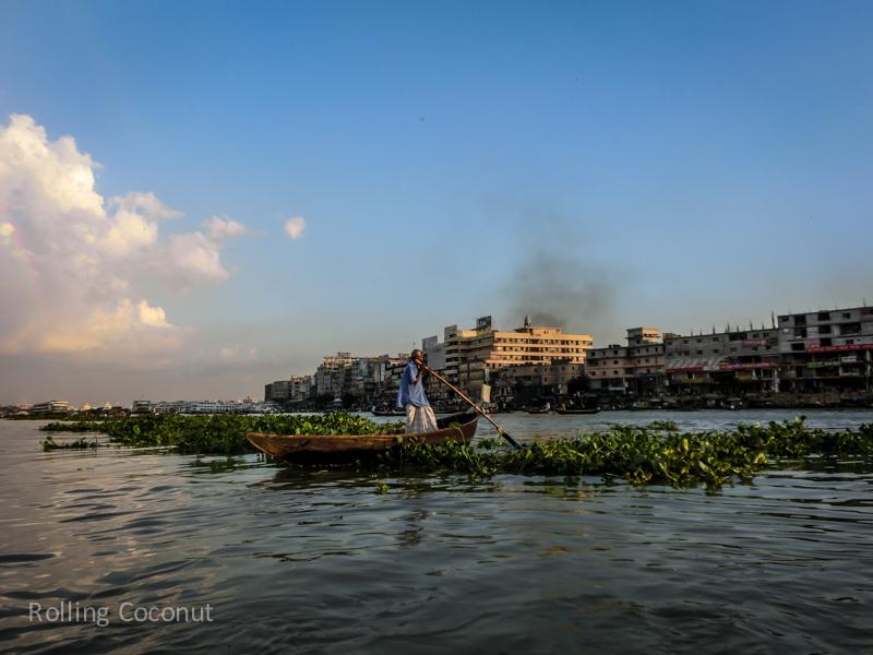 Bangladesh Dhaka Sadarghat Buriganga River boat ride ooaworld Rolling Coconut Photo Ooaworld