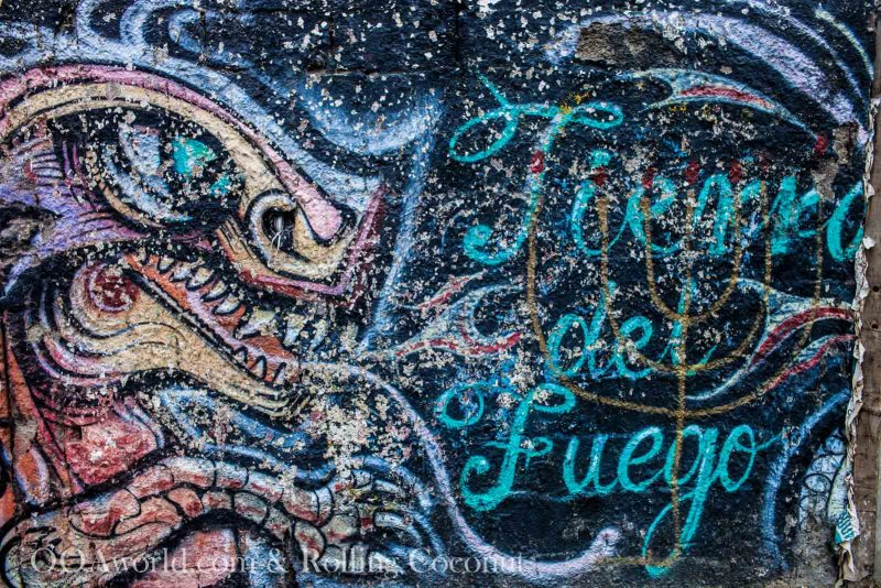 Ushuaia Argentina Tierra Del Fuego Street Art ooaworld Rolling Coconut Photo Ooaworld