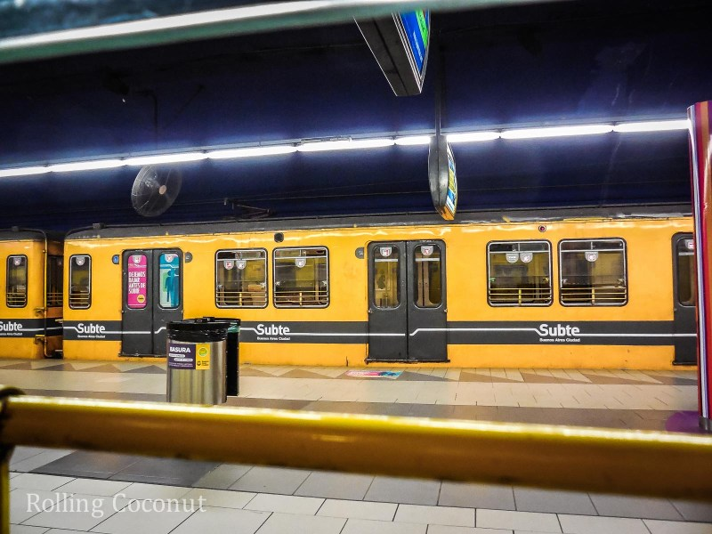 Argentina Buenos Aires Metro Subte Rolling Coconut OOAworld Photo Ooaworld