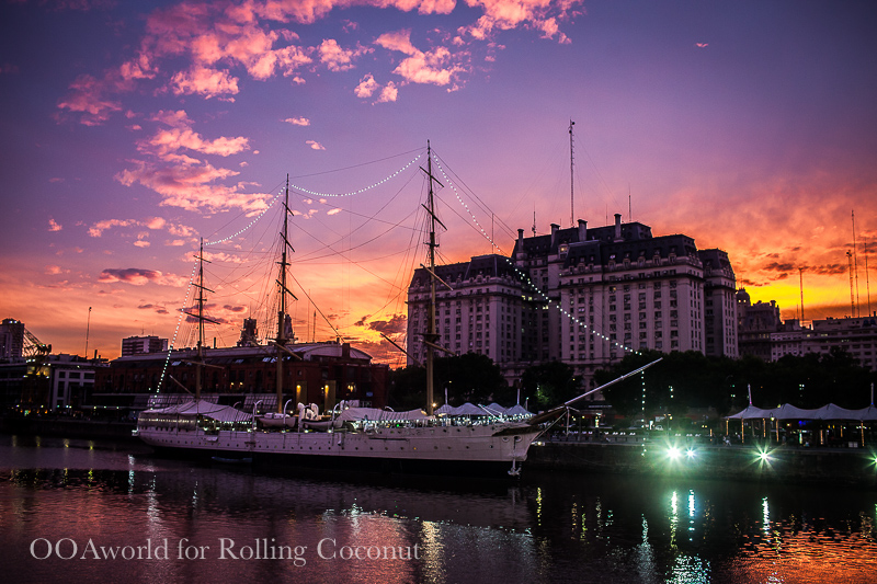 Argentina Buenos Aires Puerto Madero Sunset Rolling Coconut OOAworld Photo Ooaworld
