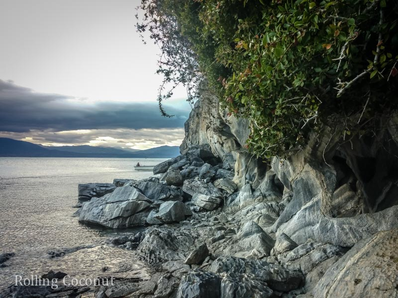 Puerto Rio Tranquilo Chile Marble Caves 7 Rolling Coconut OOAworld Photo Ooaworld