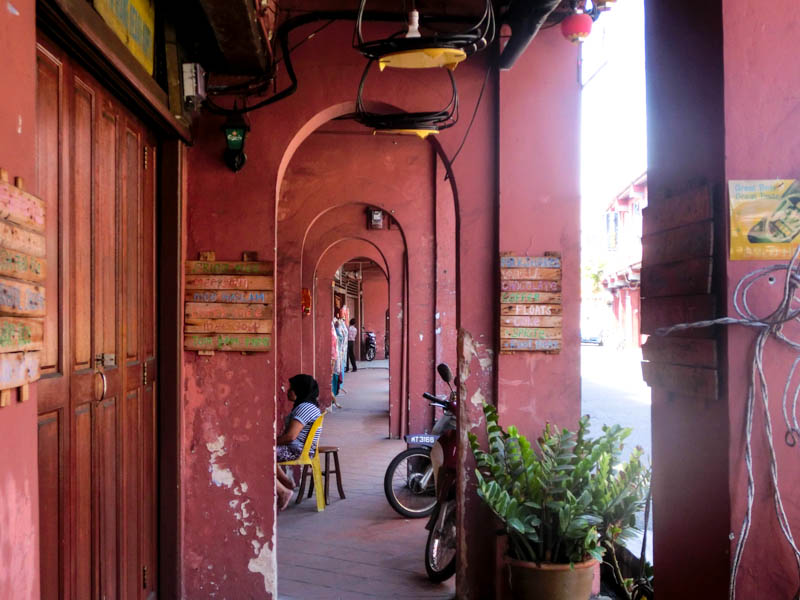 Red arches Melaka Malaysia photo ooaworld Rolling Coconut