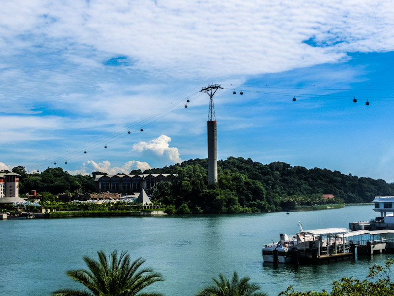 sentosa singapore cable car photo ooaworld Rolling Coconut