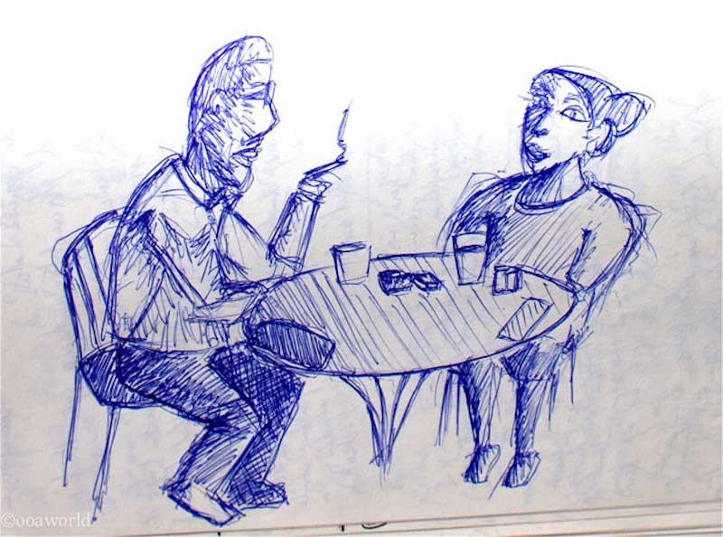 kansas city cafe art drawing ooaworld